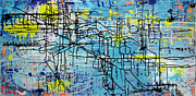 Mapping Paintings - Downtown by Shelley Heffler