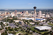 Tower Of The Americas Photos - Downtown Skyline of San Antonio Texas by Bill Cobb