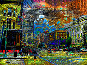 Evening Scenes Digital Art - Downtown Street by Keven Reynolds