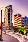 Tampa Skyline Photos - Downtown Tampa at Platt street by Marvin Spates