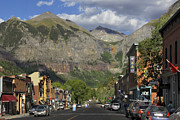 Cityscape Digital Art Prints - Downtown Telluride Colorado Print by Mike McGlothlen