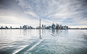 Flower Photographs - Downtown Toronto Skyline from the Ferry by Anthony Rego