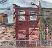 Brick Buildings Pastels Prints - Downtown Warrensburg Print by Billy Granneman