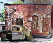City Life Pastels Posters - Downtown Warrensburg Scene 2  Poster by Billy Granneman