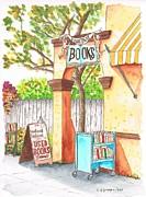 Downtowne Used Books In Riverside - California Print by Carlos G Groppa