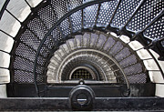 Spiral Staircase Metal Prints - Downward Spiral Metal Print by Douglas Stucky