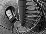 Railing Prints - Downward Spiral Print by Mark Miller