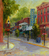 Fire Hydrant Paintings - Doylestown County Theater by Kit Dalton
