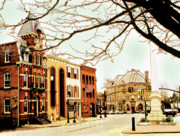 Addie Hocynec Art Prints - Doylestown-The Intellligencer Building Print by Addie Hocynec