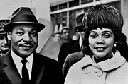 Mlk Prints - Dr and Mrs King Print by Benjamin Yeager