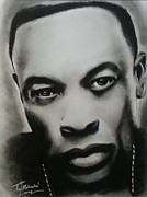 Signed Drawings Framed Prints - Dr. Dre Framed Print by Lance  Freeman