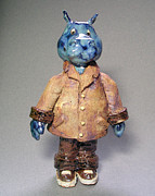 Cartoon Ceramics - Dr Herman Hippopotamus  by Jeanette K