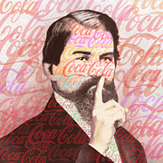 Icon Mixed Media Originals - Dr. John Pemberton Inventor of Coca-Cola by Tony Rubino