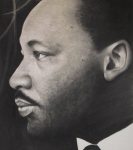 Martin Luther King Jr Drawings Prints - Dr. Martin Print by Adrian Pickett