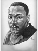 Martin Luther King Jr Drawings Prints - Dr. Martin Luther King Jr. Print by Van Beard