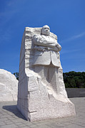 Mlk Framed Prints - Dr Martin Luther King Memorial Framed Print by Olivier Le Queinec