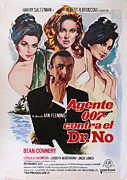 Sean Connery Prints - Dr No - Spanish Print by Nomad Art And  Design