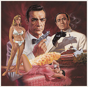 Movie Posters Paintings - Dr. No by Dick Bobnick