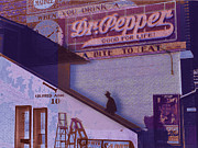 Distressed Mixed Media Originals - Dr Pepper Blues The Way It Was by Tony Rubino