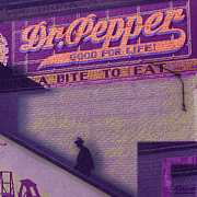 Distressed Mixed Media - Dr Pepper Blues by Tony Rubino