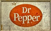Fizz Mixed Media Metal Prints - Dr Pepper Sign Metal Print by Todd and candice Dailey