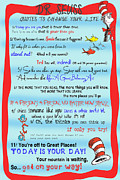 Inspire Posters - Dr Seuss - Quotes to Change Your Life Poster by Georgia Fowler