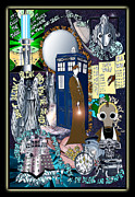 Dr. Who Digital Art Framed Prints - Dr Who Dada Framed Print by Sarah Holt