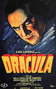 Featured Mixed Media Acrylic Prints - Dracula 1935 Acrylic Print by Presented By American Classic Art