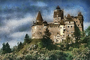 Romania Paintings - Dracula Castle Romania by Georgi Dimitrov