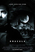 Blood Moon Posters - DRACULA Custom Poster Poster by Jeff Bell