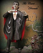 John Malone Art Work Digital Art Posters - Dracula Model Kit Poster by John Malone