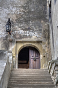 Romania Photos - Draculas Castle Entrance by Gabriela Insuratelu