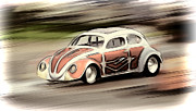 Vw Squareback Framed Prints - Drag Bug 2 Framed Print by Steve McKinzie