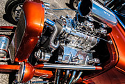 Street Rods Posters - Drag Queen - Hot Rod Blown Chrome  Poster by Steven Milner