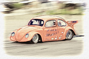 Rat Rod Photos - Drag Race by Steve McKinzie