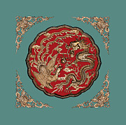Chinese Photo Prints - Dragon and Phoenix Print by Kristin Elmquist