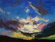Dragons Paintings - Dragon Cloud by Michael Creese