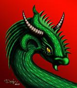 Dragon Print by Drofn Erlingsdottir