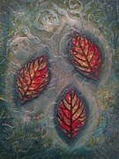 Dungeon Mixed Media - Dragon Eye Leaves by Noopur  Agarwal