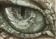 2/5 Dragon Eye Reflection Of Creation - Dead Layer Print by Jacqueline Katherine Gomez