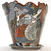 Stone Ceramics - Dragon Goes To The Ball by Susan Perry