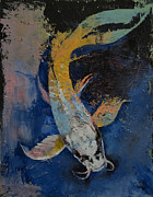 Koi Painting Posters - Dragon Koi Poster by Michael Creese