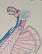 Dragon Lines Print by Carolina Campbell