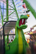 Amusement Park Photos - Dragon Ride Portrait by Scott Campbell