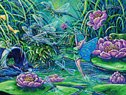 Gail Butler Prints - Dragonflies Print by Gail Butler