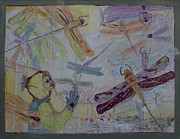 Dragonflies Mixed Media - Dragonflies in Winter by Avonelle Kelsey