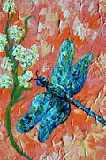 Flying Bugs Framed Prints - Dragonfly 1 Framed Print by Eloise Schneider