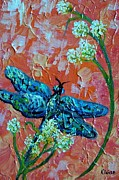 Flying Bugs Framed Prints - Dragonfly 2 Framed Print by Eloise Schneider