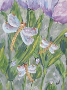 Beverly Livingstone - Dragonfly and Tulips