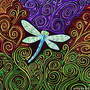 Relaxing Drawings - Dragonfly Dreams by Lisa Anne Riley